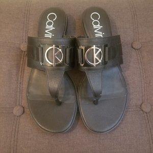 Calvin Klein Women's Farley Slip-On Sandal Size 9